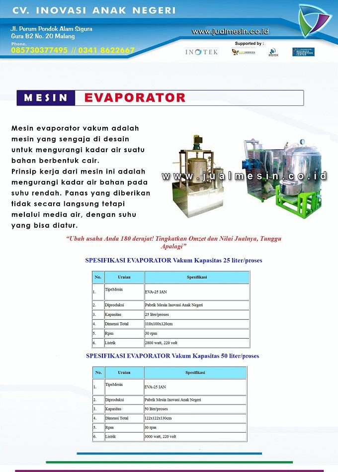 mesin evaporator