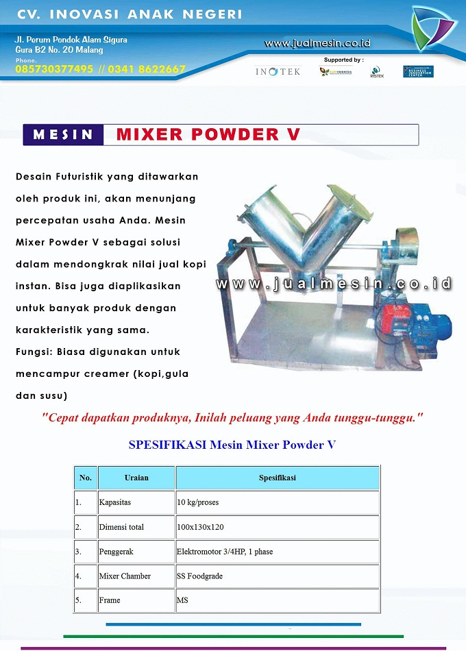 mesin mixer power v